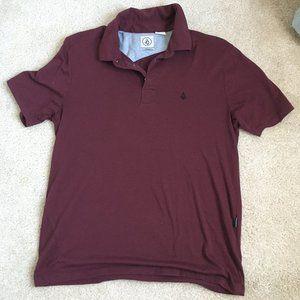 Volcom Young Men's Burgundy Polo
